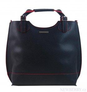 Černo-červená moderní dámská shopper kabelka S581 GROSSO   NEWBERRY ... ef255eec032