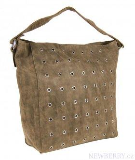 71b98645568 Broušená kabelka na rameno M9001 světlá přírodní hnědá   NEWBERRY ...