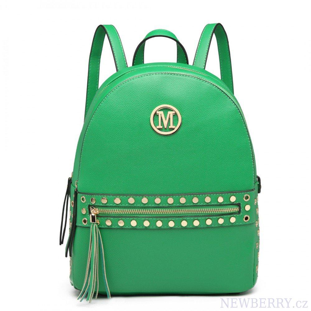 8aec61381 Zelený dámský stylový batůžek Miss Lulu : NEWBERRY - velkoobchod ...